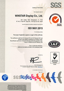 ISO 9001:2015 certificated