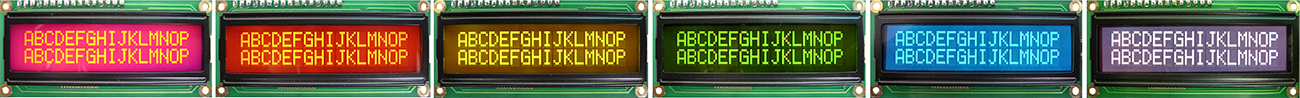 Custom Color LCD - Backlight - Negative Type