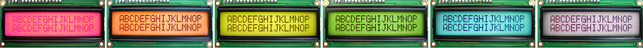 Custom Color LCD - Backlight - Positive Type