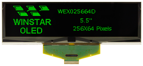 "5.5"" OLED LCD Module WEX025664D"