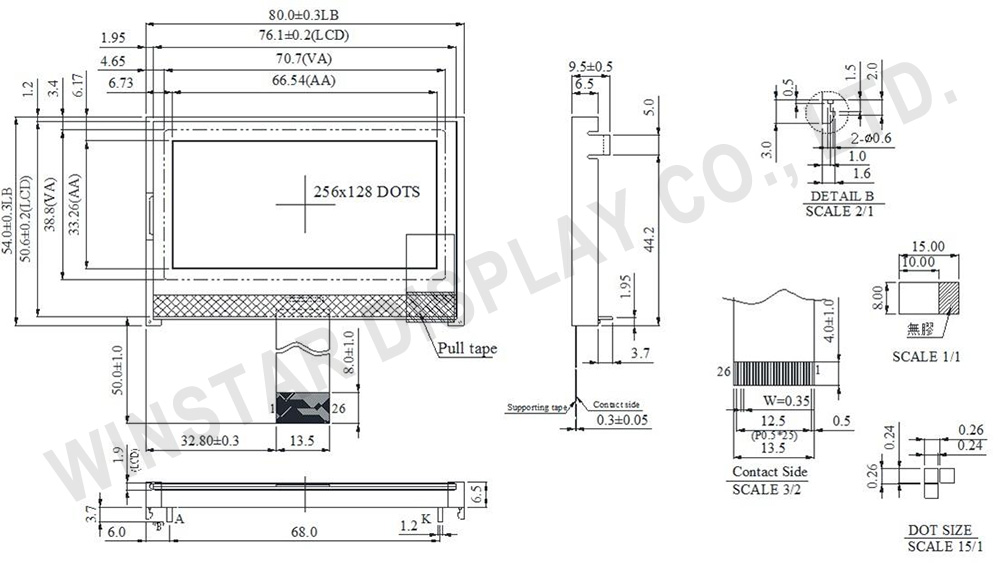 Graphic COG LCD WO256128A