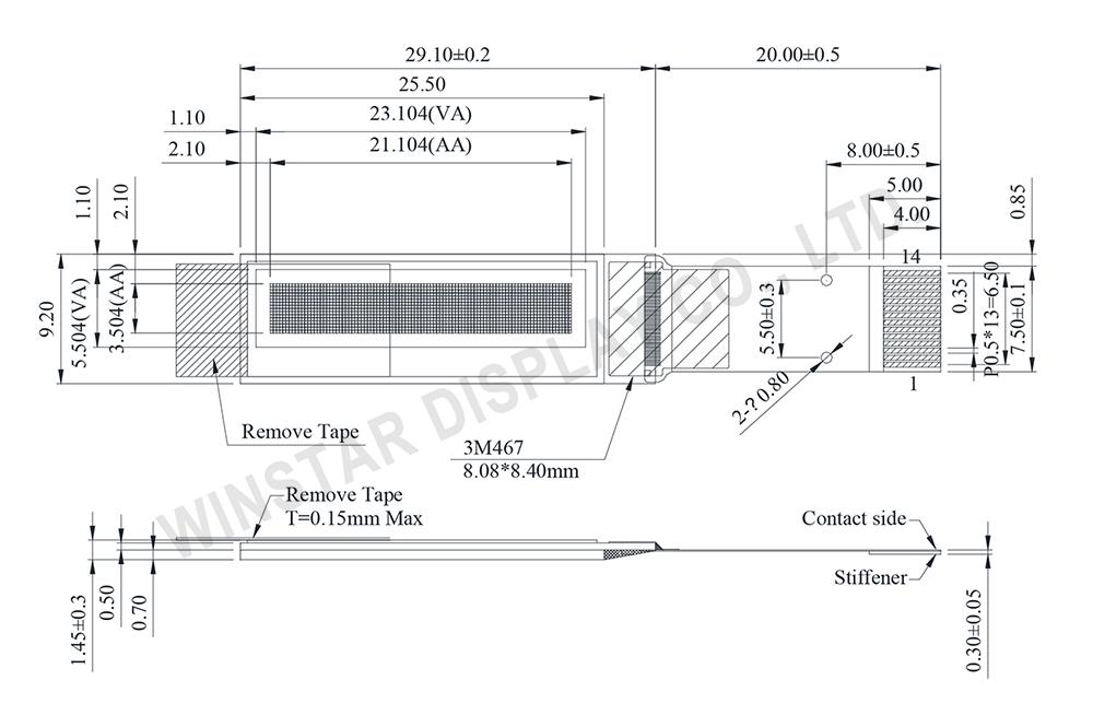 Winstar Display - 0.84 inch OLED WEO009616A