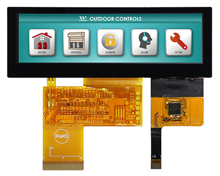 "3.9""Bar TFT WF39BTLASDNG0# (with Capacitive Touch Panel)"