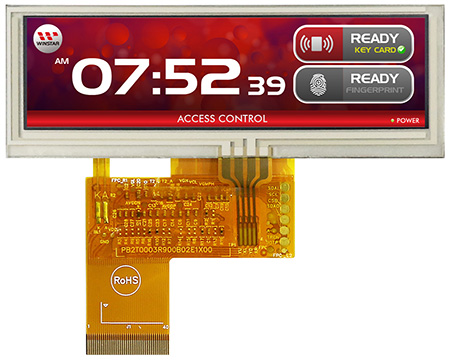 "3.9""Bar TFT WF39BTLASDNT0# (with Resistive Touch Panel)"