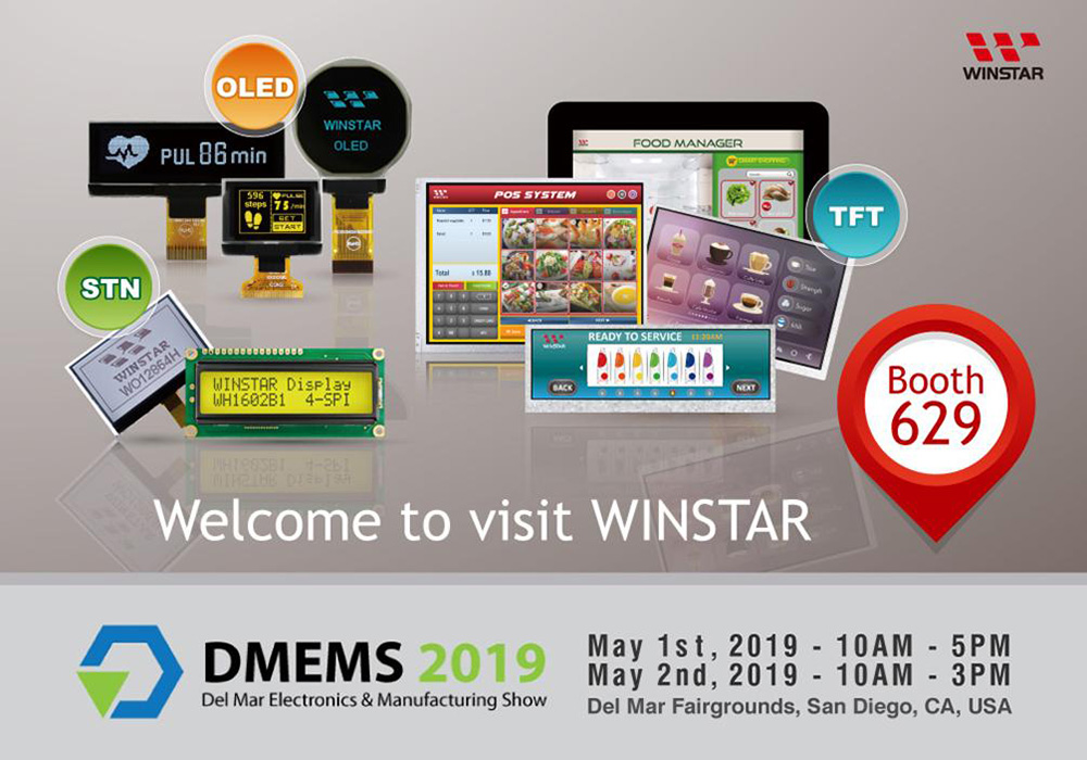 Exhibition News: DMEMS 2019 in CA USA - Winstar Display