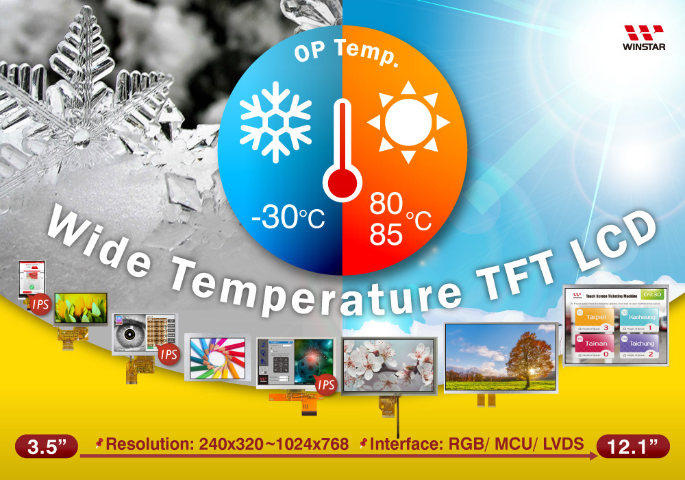 Winstar Wide Temperature TFT-LCD Series