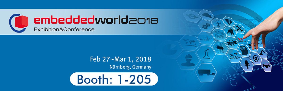 Embedded World 2018 - Winstar's Booth 1-205