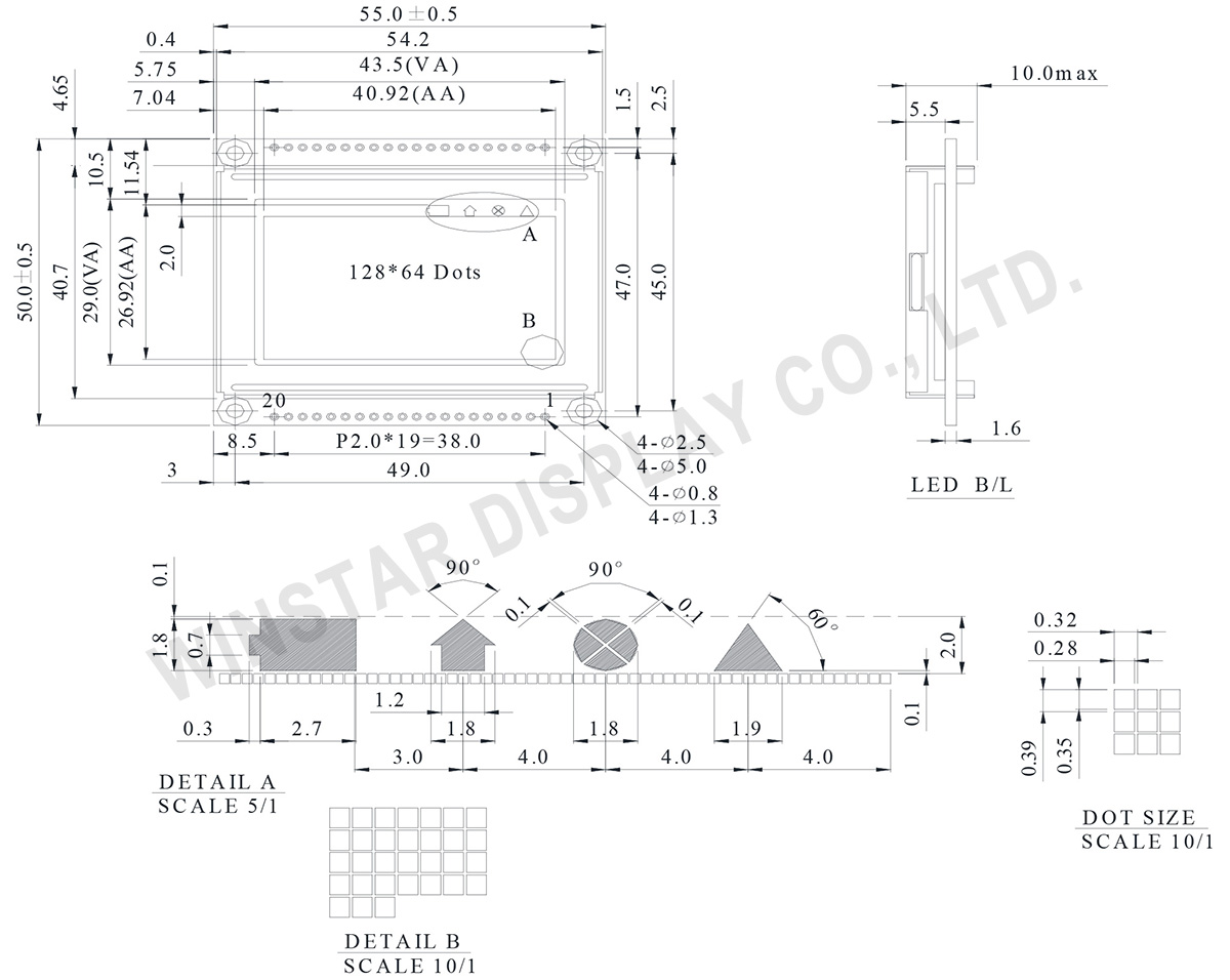 Graphic Module 128x64 - WG12864E1