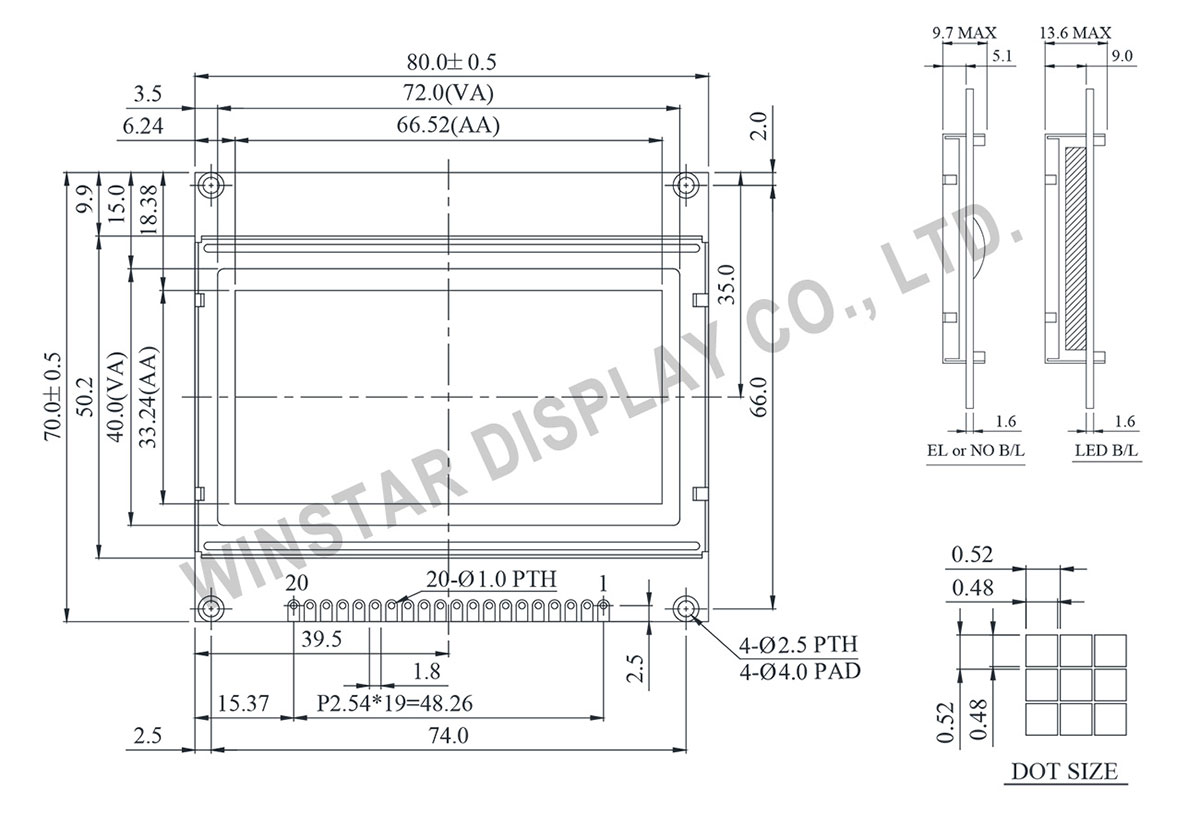 Graphic Dot Matrix Display Module, Display Matrix, Matrix Display
