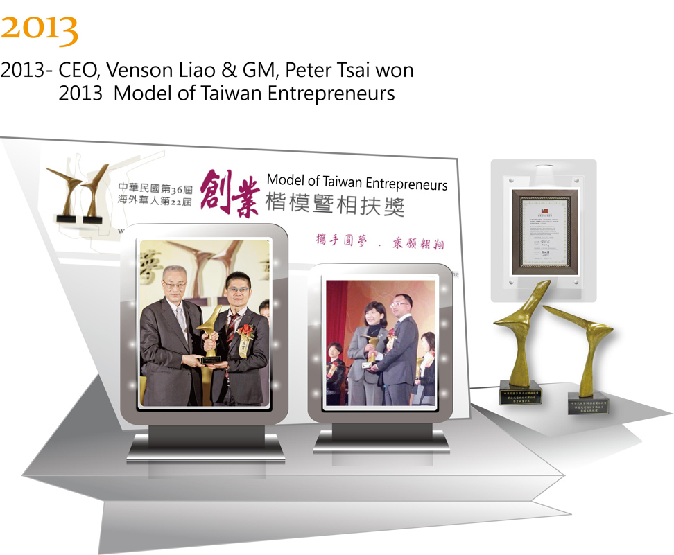 Winstar Founders Won 2013 Model of Taiwan Entrepreneur Award