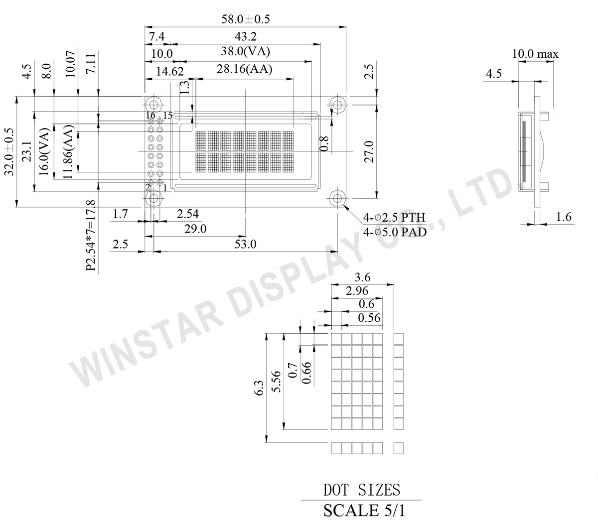 8x2 OLED Character Display - WEH000802A - Winstar Display
