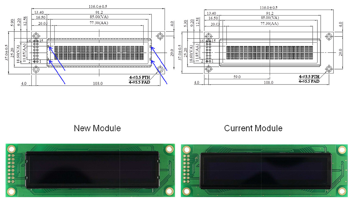 Module Drawing Comparison WEH002002A