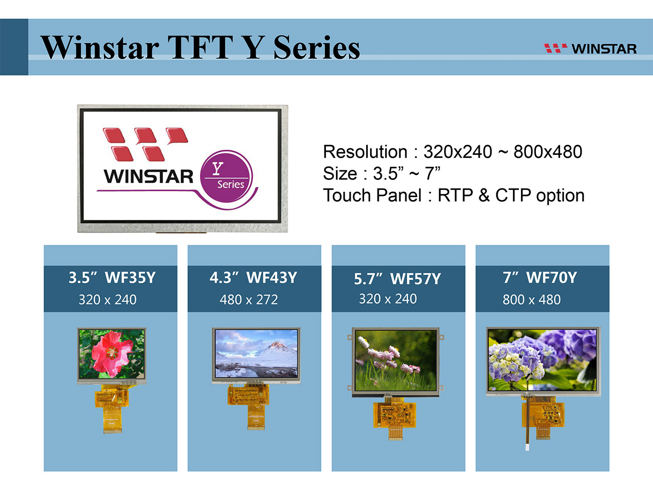 "Winstar TFT LCD Y Series - 3.5 tft lcd, 3.5"" tft lcd, tft lcd 3.5, tft lcd 3.5"", 3.5 tft display, tft display 3.5, 4.3 tft lcd, 4.3 tft lcd, 4.3"" tft lcd, tft lcd 4.3, tft lcd 4.3"", 4.3 tft display, tft display 4.3, 5.7 tft lcd, 5.7"" tft lcd, tft lcd 5.7, tft lcd 5.7"", 5.7 tft display, tft display 5.7, 7 tft lcd, 7"" tft lcd, tft lcd 7, tft lcd 7"", 7 tft display, tft display 7, 7.0 tft lcd, 7.0 tft display"