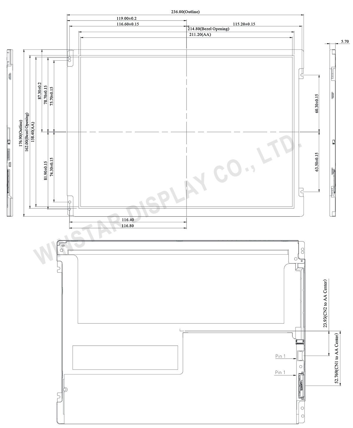 10.4 TFT LCD, 10.4 TFT Display, 10.4 inch LCD Display - Winstar Display