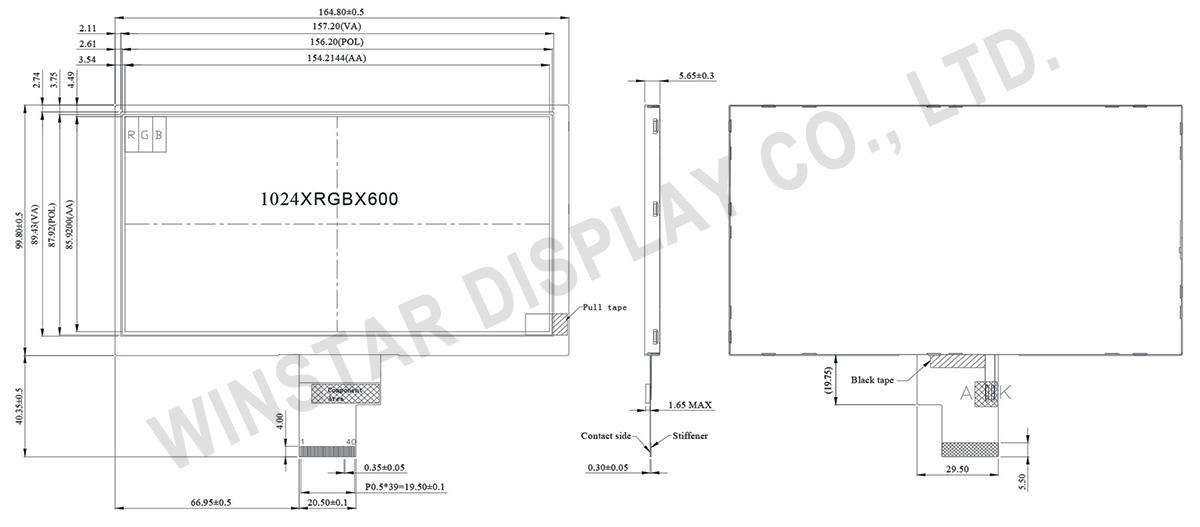 7 1024x600  LVDS TFT Color LCD - WF70A7TIAHLNN0