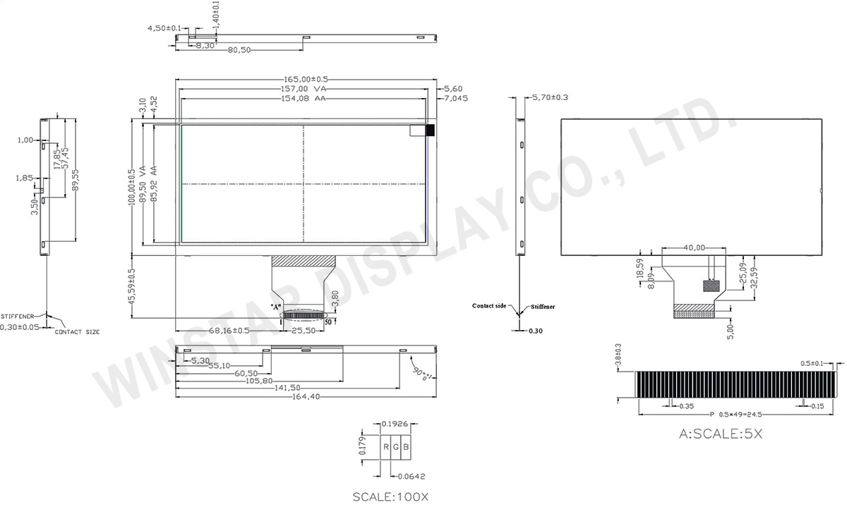 WF70GTIAGDNN0 - 7 TFT, 7 TFT LCD, 7 TFT LCD Panel