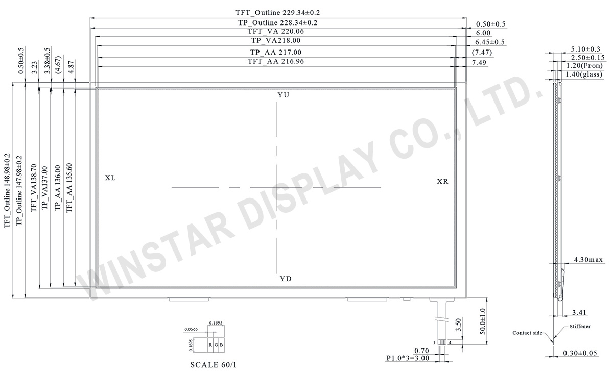 HD IPS Display, IPS Touchscreen Display, IPS LCD Touchscreen - LVDS - Winstar