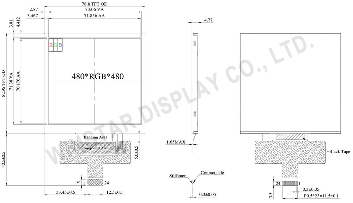 4 TFT LCD, TFT LCD 4, TFT 4, 4 TFT Display, 4 TFT, 4 inch TFT Display - WF40ESWAA6MNN0