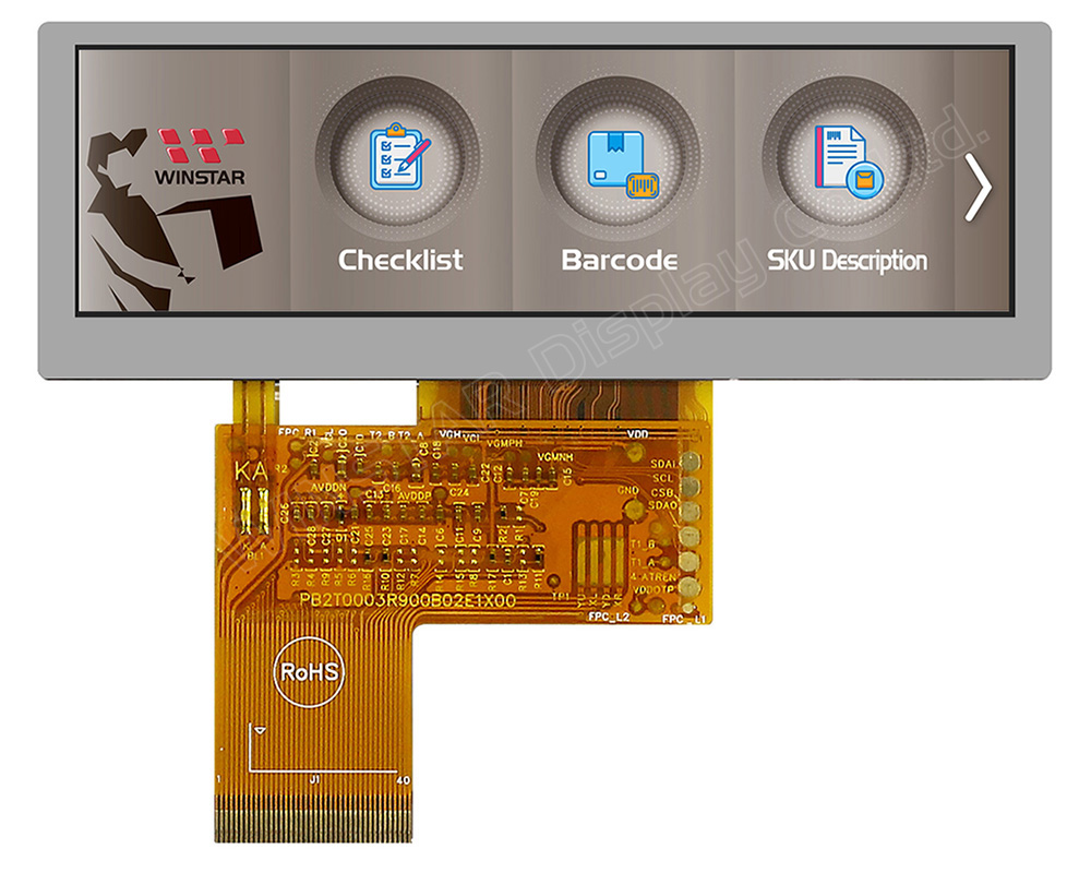 3.9 inch RGB Bar TFT LCD Display - WF39BTLASDNN0