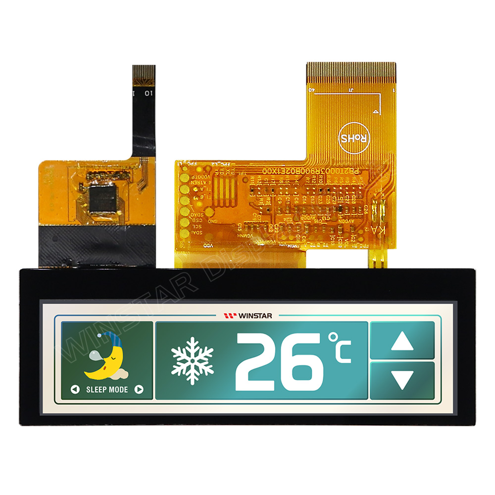"3.9"" 480x128 Top View Direction Stretched PCAP TFT LCD Display - WF39CTIASDNG0"