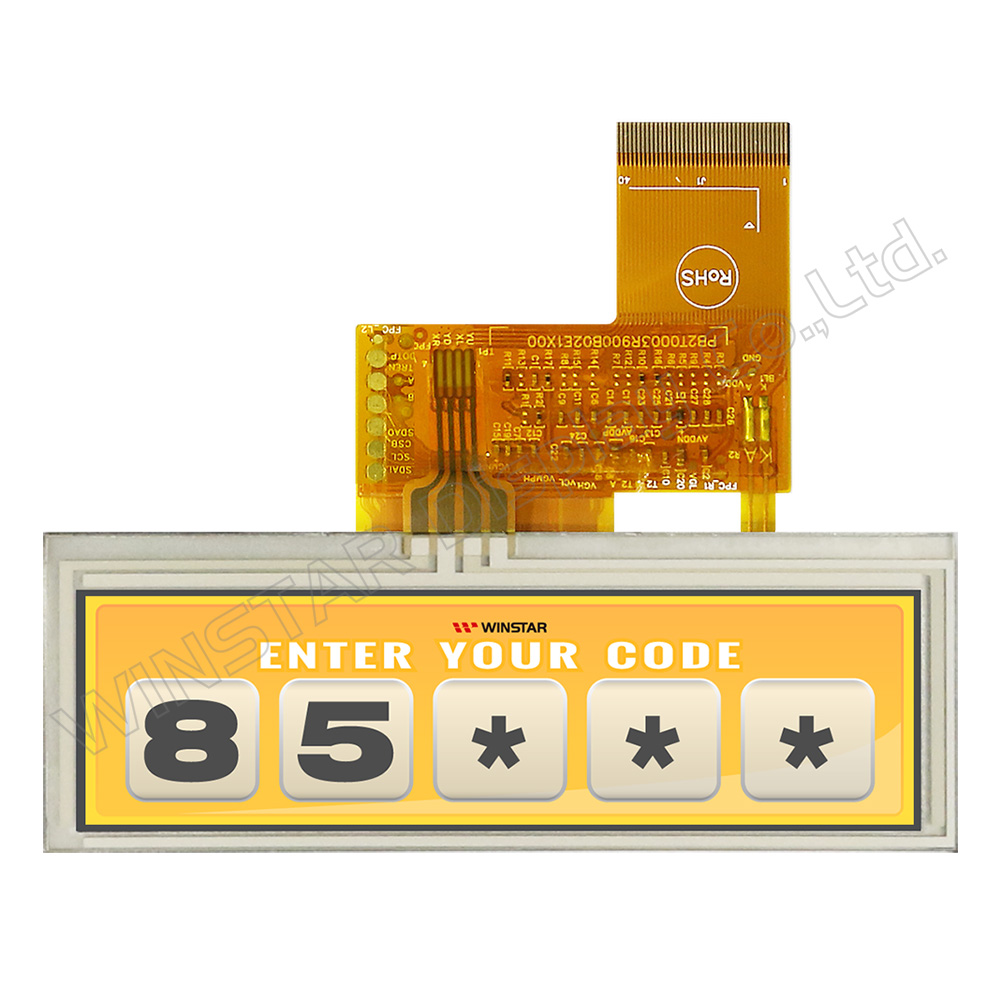 "3.9"" 480x128 Top View Direction Stretched RTP TFT LCD - WF39CTIASDNT0"