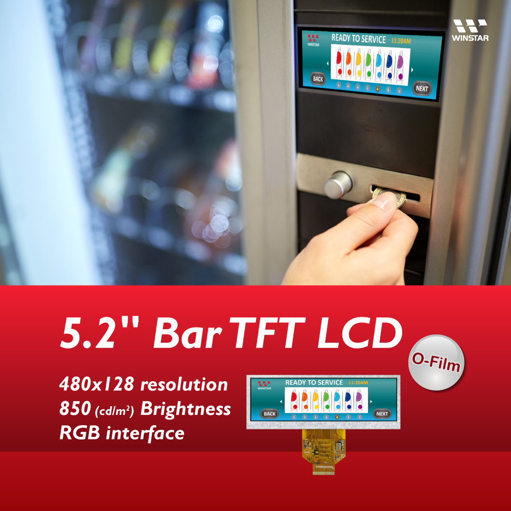 5.2 Bar Tye TFT LCD with Wider Viewing Angle