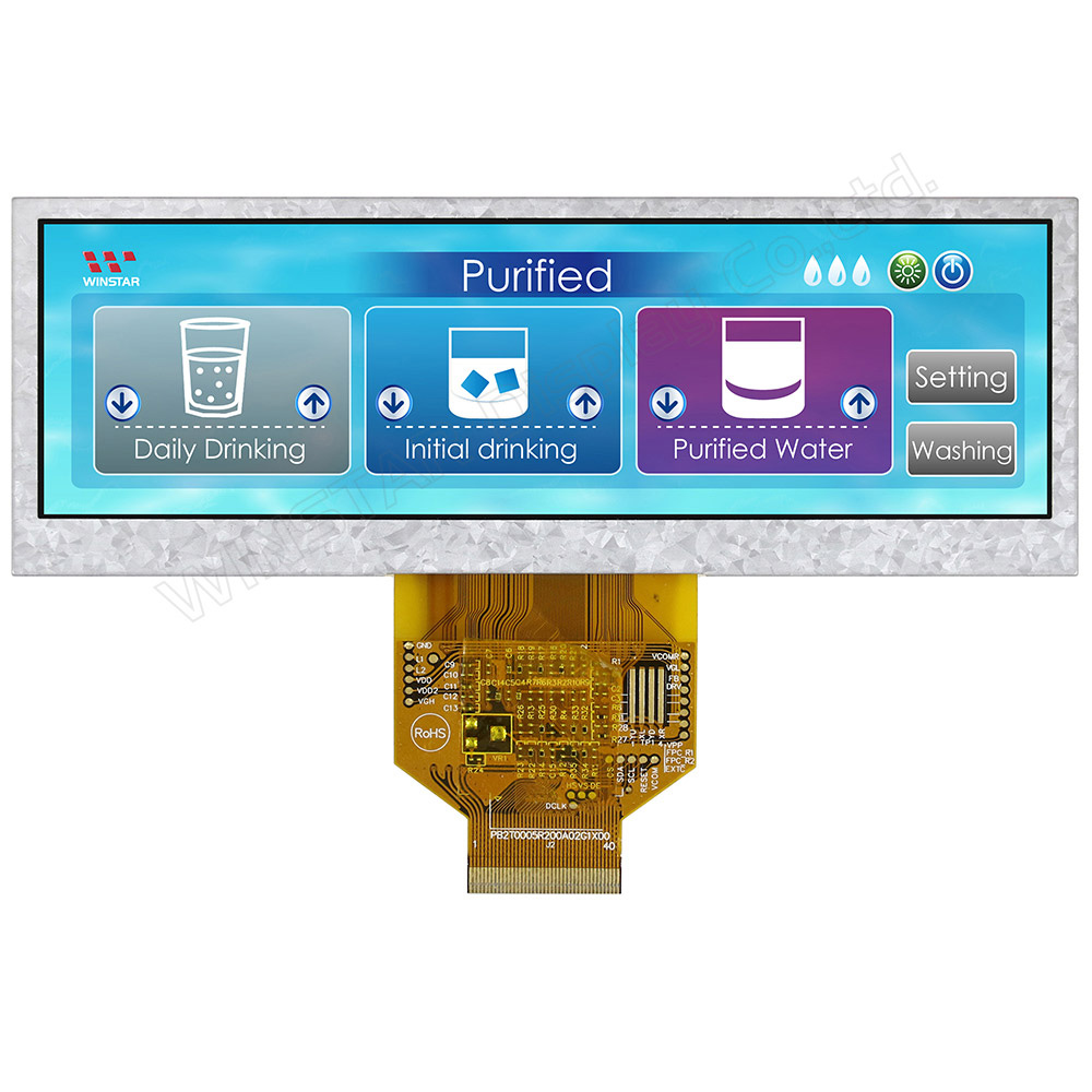 5.2 Bar Type Wide LCD Display, Widescreen TFT LCD, Wide Display