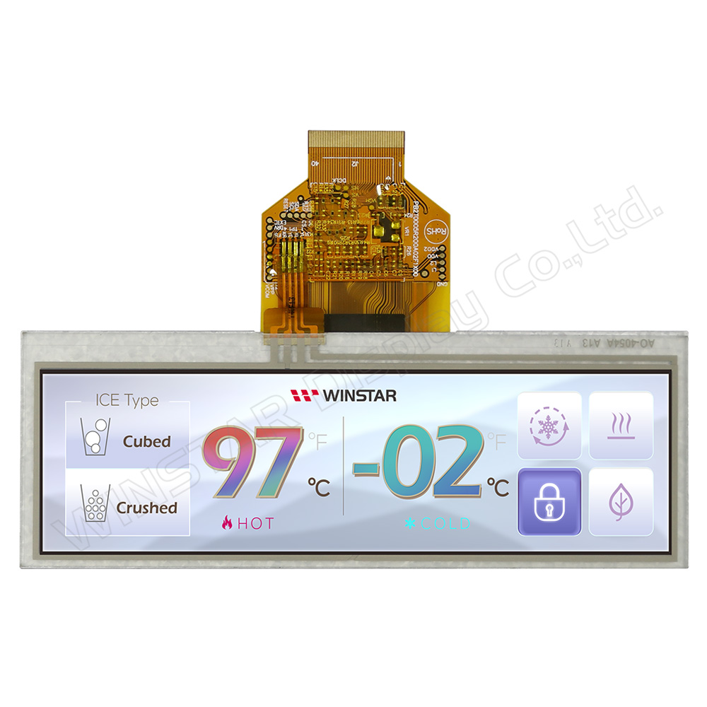 "5.2"" 480x128 Top View Direction Stretched RTP TFT LCD - WF52BTIASDNT0"