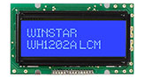 Display LCD 12x2, Small LCD Displays, Miniature LCD Display - WH1202A