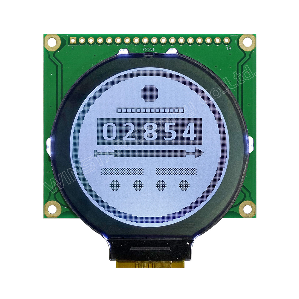 Round LCD, Round LCD Display Module, Round LCD Panel, Round LCD Screen with PCB - WO128128A2