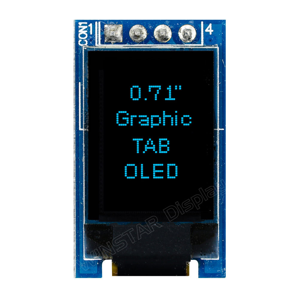 Tiny OLED, Tiny OLED Screen, Tiny OLED Display COG PCB, 48x64, 0.71