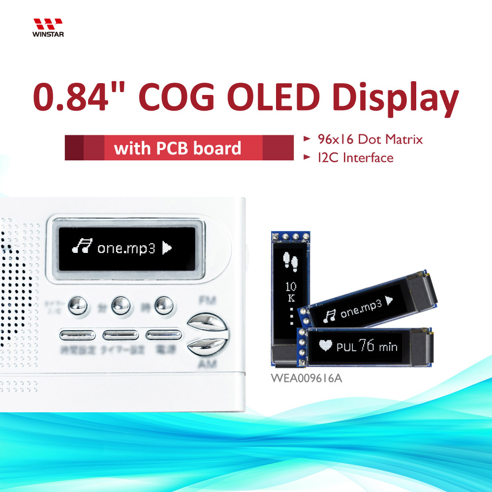 0.84, 96x16 COG+PCB Mini-OLED-Display