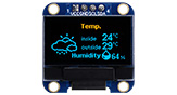 0.96インチ COG+PCB デュアルカラー有機ELモジュール 128x64 - WEA012864MX