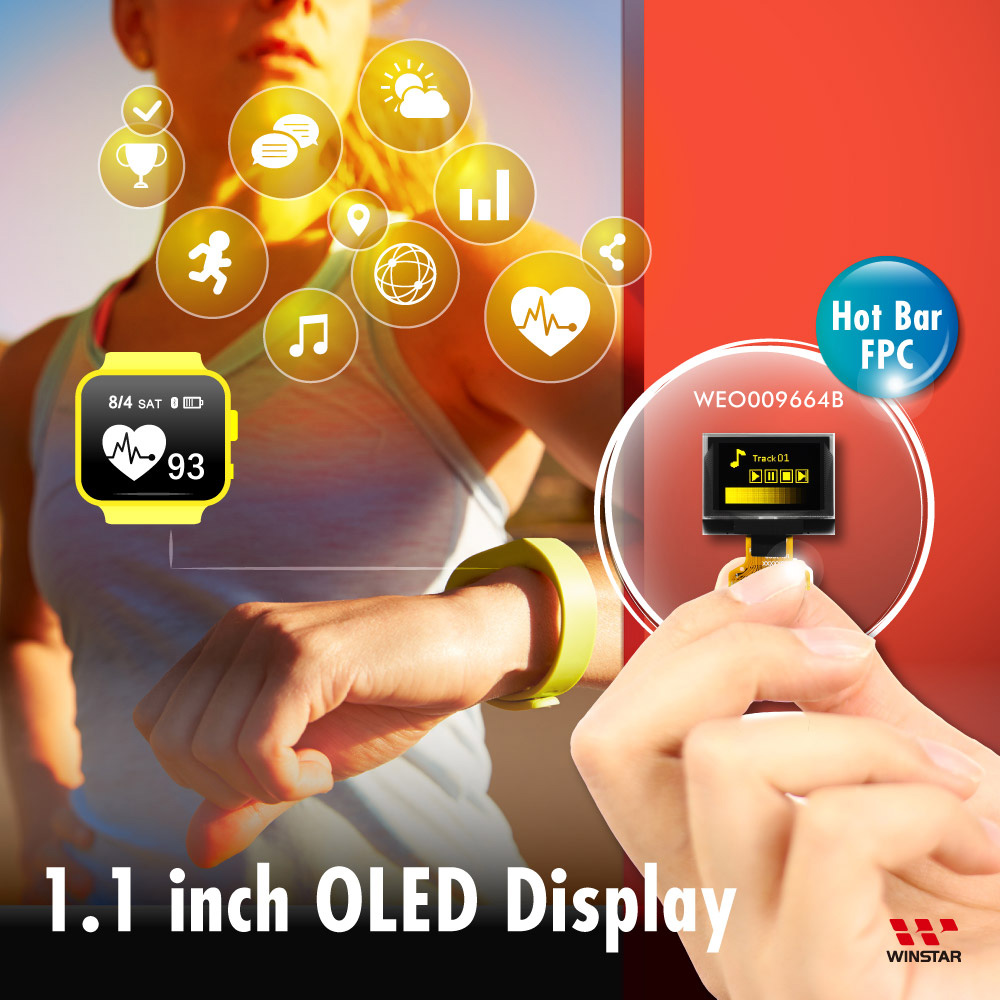 96x64 OLED Display, OLED 96x64, OLED 9664, Square OLED Display, SSD1327 OLED - Hotbar