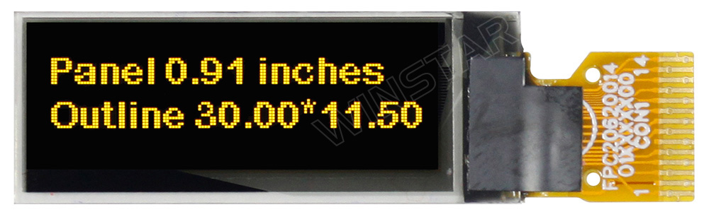 OLED I2C, OLED I2C Display, 128x32 I2C OLED, I2C OLED Display - WEO012832F