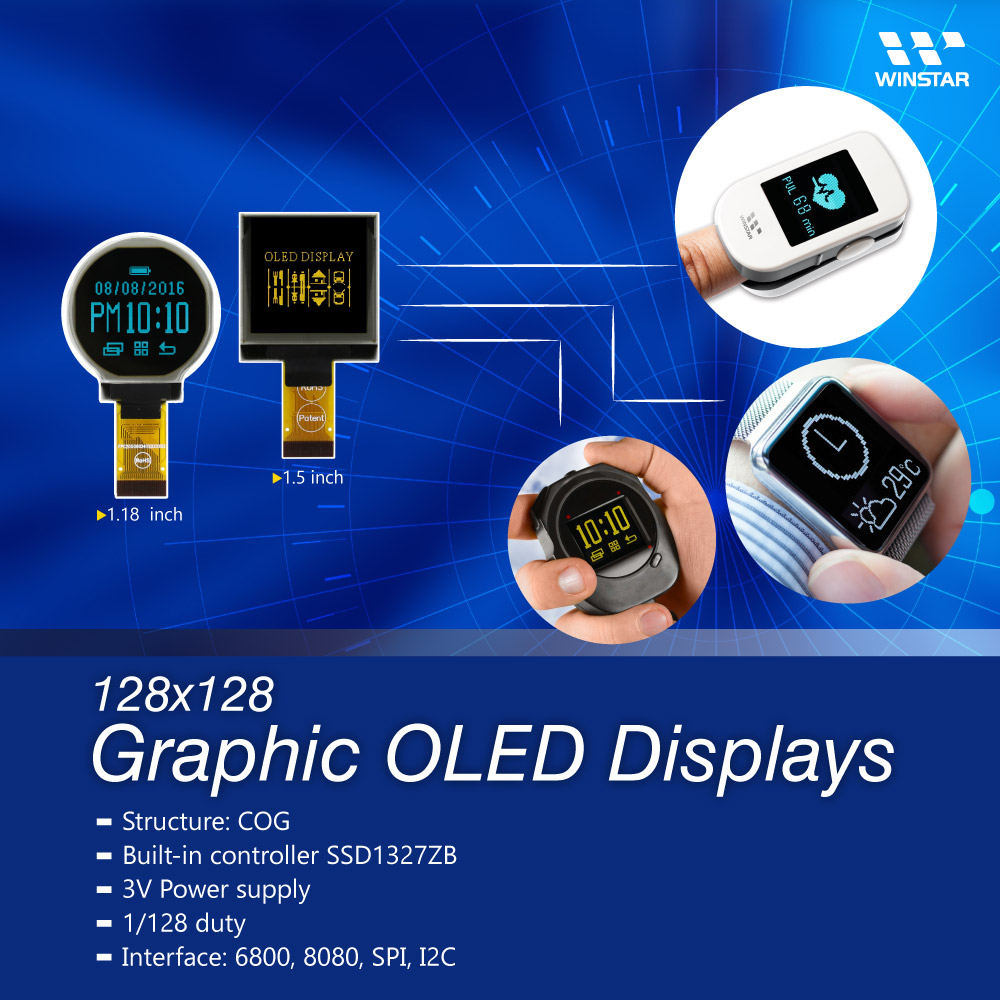 1,18 Zoll Rundes OLED Display,  Rund Display