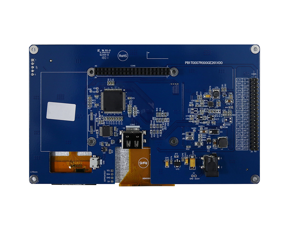 TFT Display For HDMI Signal, 7 Display HDMI (For Raspberry Use) - WF70GTIFGDHGV