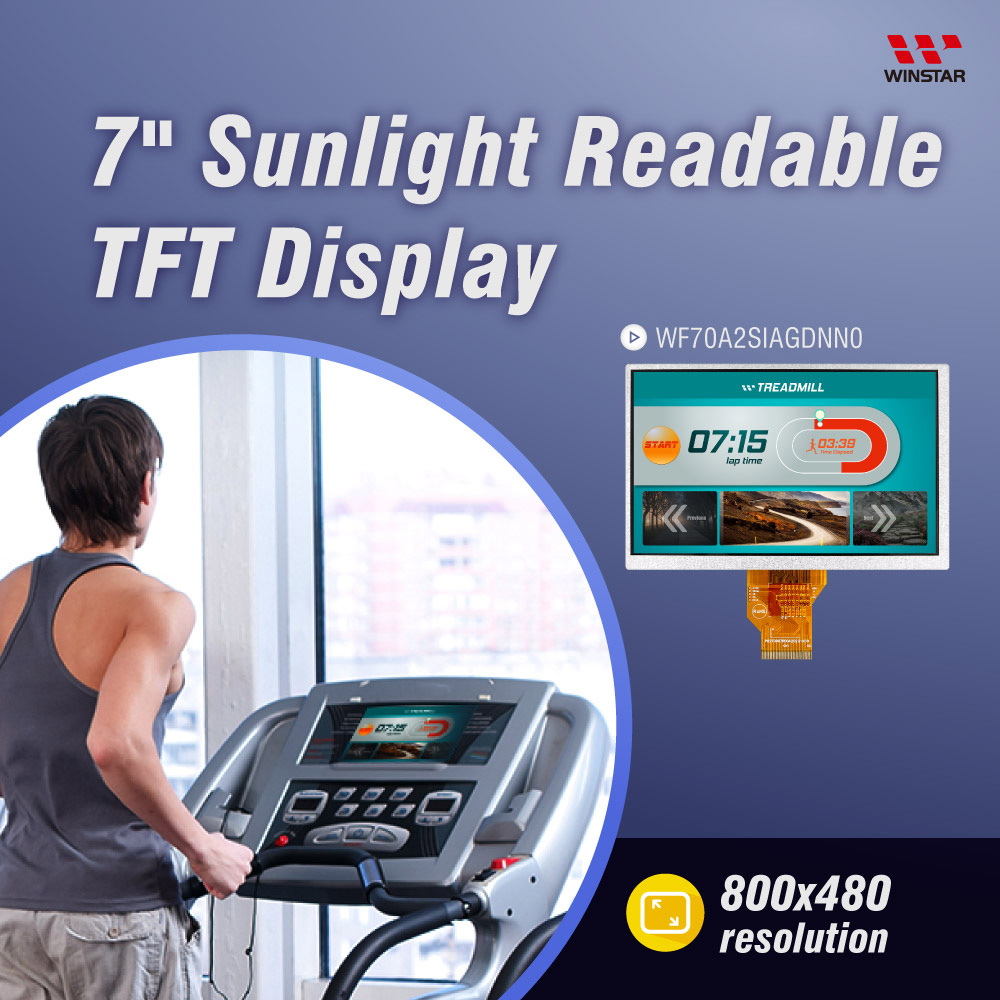 7 Display TFT alto Brilho