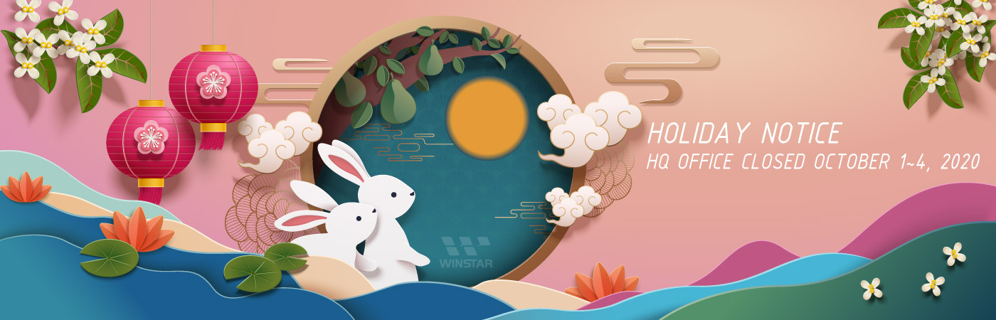 Happy Moon Festival - Holiday Notice (HQ Office Closed October 1~4, 2020)