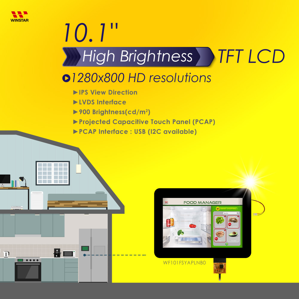"IPS Touch Display, 1280x800, 10.1"" IPS TFT Touch Display with USB Capacitive Touch Screen"