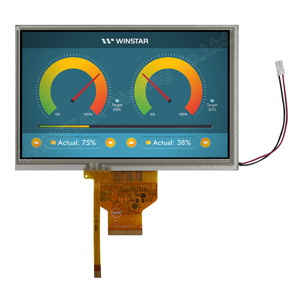 "7"" 800x480 High Brightness, Wide Temperature IPS TFT LCD Panel - WF70A9SWAGDNT0"