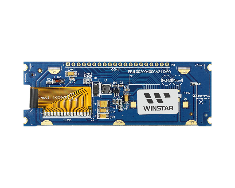 20 caratteri x 4 righe COG Display OLED +PCB - WEA002004C