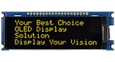 20文字x4行 COG OLED 有機モジュール +PCB - WEA002004C