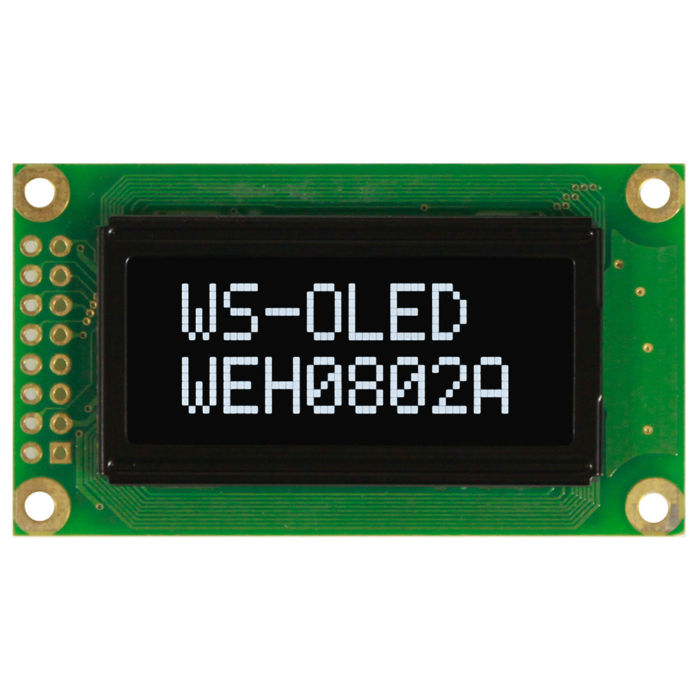 Mini Display OLED, Alfanumerici OLED, OLED 8x2 - WEH000802A