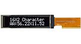 16文字x2行キャラクタ液晶OLED - WEO001602C