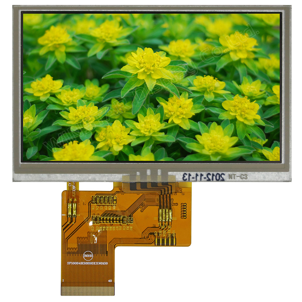 4,3 Zoll TFT Display mit Resistive Touchscreen