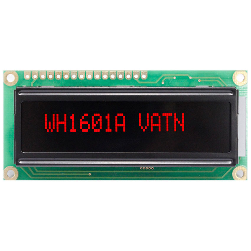 16x1 VATN LCD with Highlight Red LED Backlight