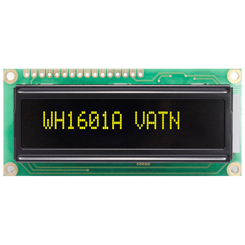 16x1 VATN LCD with Yellow LED Backlight