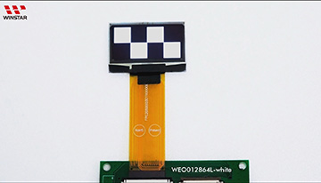 OLED - WEO012864L-ZIF video