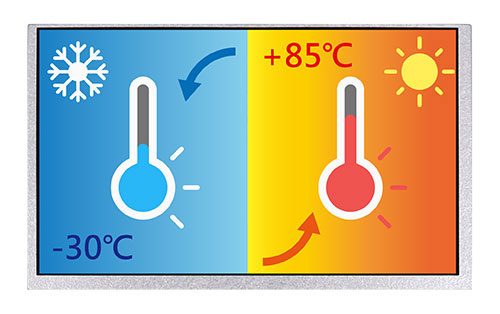 Wide Temperature TFT LCD, Active Matrix TFT Colour LCD Display